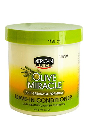 [African Pride-box#38] Olive Miracle Leave-In Conditioner-Jar(15oz)