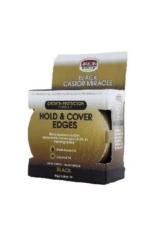 [African Pride-box#81] BCM Hold & Cover Edges - Black (2.25oz)