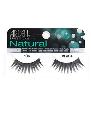 [Ardell] Natural Eyelashes #106 (Black)
