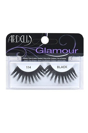 [Ardell] Glamour Eyelashes #114 (Black)