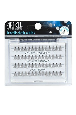[Ardell] Eyelashes Individuals Knot Free Flares (Short Brown)