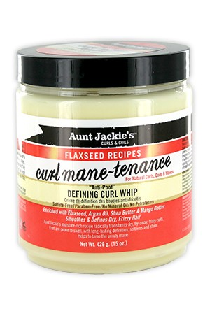 [Aunt Jackie's-box#12] Flaxseed Recipes Defining Curl Whip (15oz)