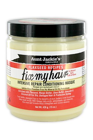 [Aunt Jackie's-box#17] Flaxseed Intensive Repair Cond Masque(15oz)