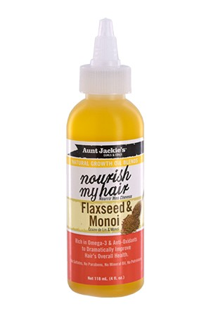 [Aunt Jackie's-box#26] Natural Growth Oil-Flaxseed&Monoi (4oz)
