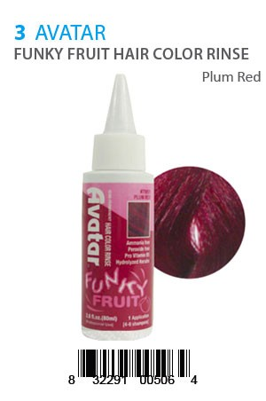 [Avatar-box#5] Funky Fruit Hair Color Rinse #Plum Red