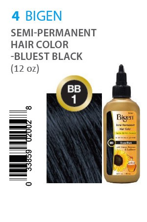 [Bigen-box#4] Semi-Permanent Hair Color #BB1 Bluest Black