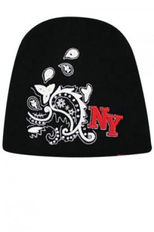 NY Knit Bandanna Cap  - #BE1042 (Silver)