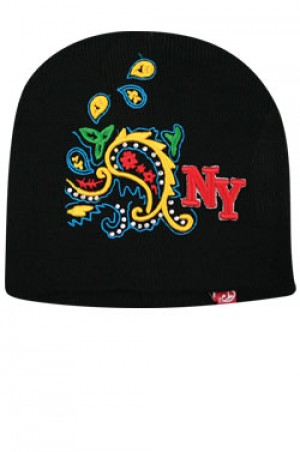 NY Knit Bandanna Cap  - #BE1043 (Multi)