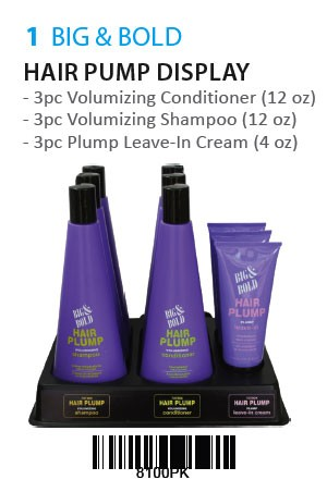 [Big& Bold-box#1] Hair Plump Pack [9pc/Display]