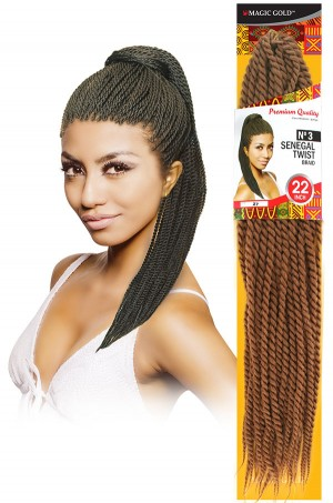 #3 Senegal Twist Braid 22""