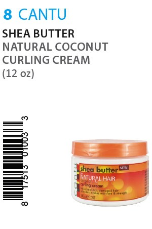 [Cantu-box#8] Shea Butter Natural Coconut Curling Cream (12oz)