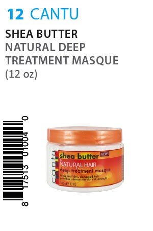 [Cantu-box#12] Shea Butter Natural Deep Treatment Masque (12oz)