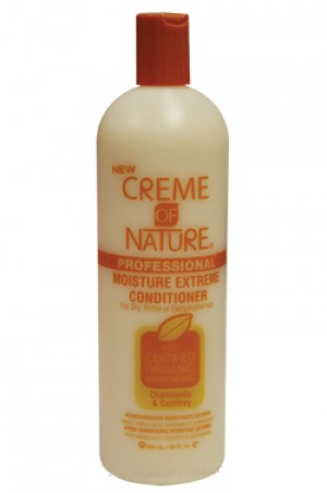 [Creme of Nature-box#23] Chamomile & Comfrey Moisture Extreme Conditioner (20oz) for Dry, Brittle or Dehydrated Hair
