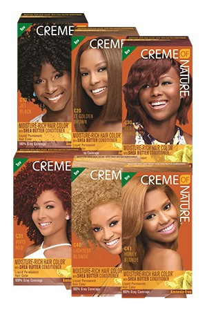 [Creme of Nature-box#82] Moisture-Rich Hair Color with Shea Butter Conditioner