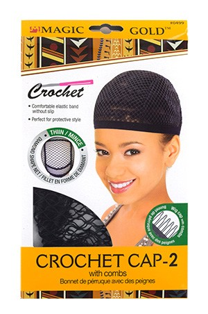 [MGC-#0499] Crochet Cap(thin)-2 with combs