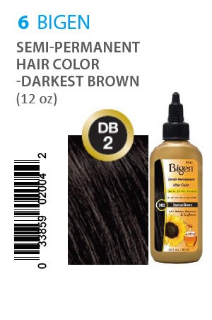 [Bigen-box#6] Semi-Permanent Hair Color #DB2 Darkest Brown