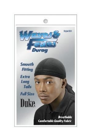 [Duke-box#24] Waves & Fades -#551 Durag-Black