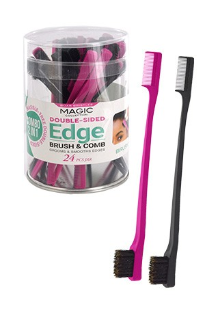 [Magic-#EDGE01JAR] Edges Brush 2-In-1 (24/jar) -Jar