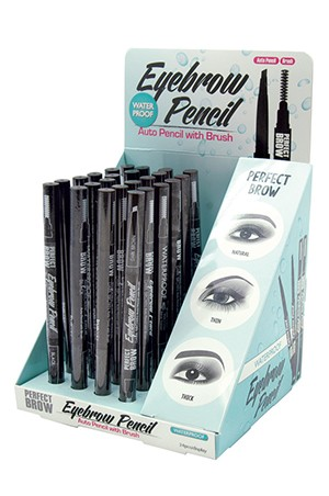 [Magic- #EYE1005] Eyebrow Water Proof Auto Pencil with Brush (24pcs) -ds
