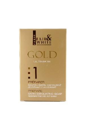[Fair&White-box#54] Gold 1 Satin Exfoliating Soap (7oz)