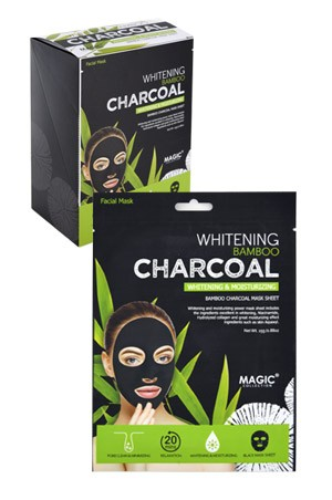 [ Magic ] Whitening Charcoal Mask Sheet (24/ds) #FMS001 -ds