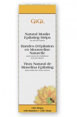 "[GiGi-box#8] Natural Muslin Epilating Strips - 1.75""X4.5"" (100pk)"