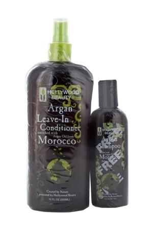 [Hollywood Beauty-box#67] Argan Leave-In Conditioner (12oz) + Shampoo (3oz)