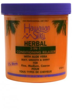 [Hawaiian Silky-box#30] Herbal 3-in-1 Relaxer Jar (37oz) - 15% Bonus