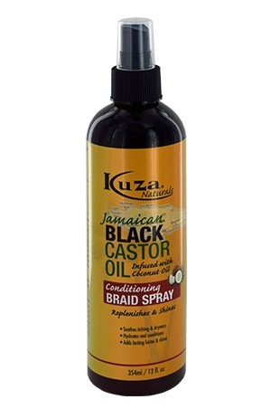 [Kuza-box#45] Black Castor Oil Conditioniing Braid Spray (12 oz)