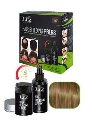 [LIZ Professional-box#6] Hair Building Fibers& Locking Spray[Light Brown]