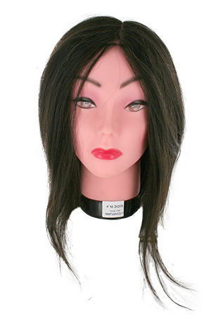 "[#M-2020S] Practice Mannequin Human Hair White Face #1B (8-11"")"