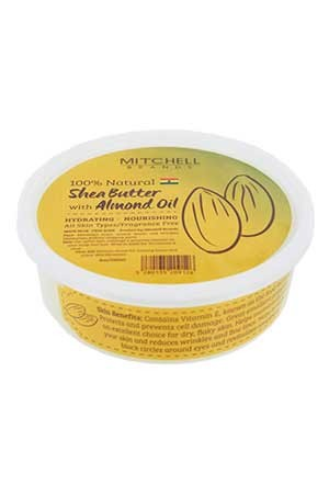 [Mitchell-box#12] Shea Butter with Almond Oil (8oz) -jar