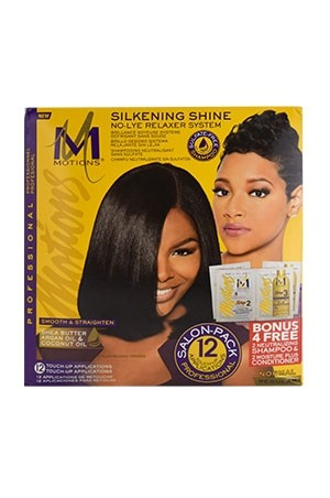[Motions-box#74] Silkening Shine No-Lye Relaxer Kit (12 Touch-Up)-Regular