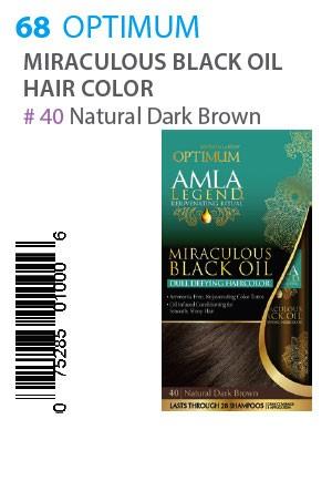 [Optimum-box#68] Amla Legend M Black Oil HC [40 Natural Dark Brown]
