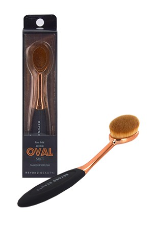 [Oval- #30022] Soft Makeup Brush Rose Gold -Medium