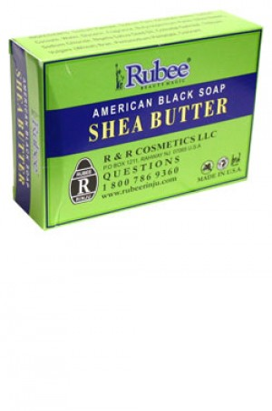[Rubee-box#11] Shea Butter American Black Soap (3.5oz)