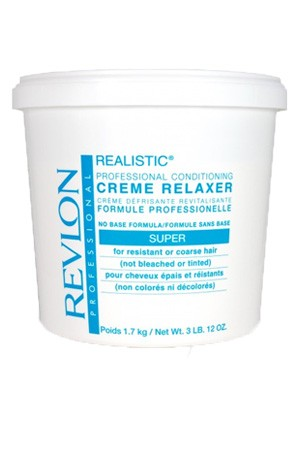[Revlon-box#7] Realistic - Professional Conditioning Creme Relaxer - Super (3 LB)