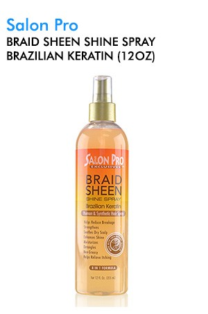 [Salon Pro-box#69] Braid Sheen Shine Spray Brazilian Keratin (12oz)