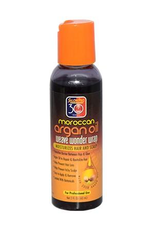 [Salon Pro-box#38] 30 Sec Weave Wonder Wrap Moroccan Argan Oil -Black (2 oz)