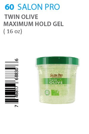 [Salon Pro-box#60] Twin Oilve Maximum Hold Gel (16oz)