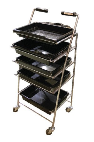 [#BB-302] Salon Trolley-Black