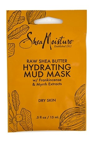 [Shea Moisture-BOX#95] Raw Shea Butter Mud Mask_Dry Skin [0.5 oz/12pk /ds]-ds