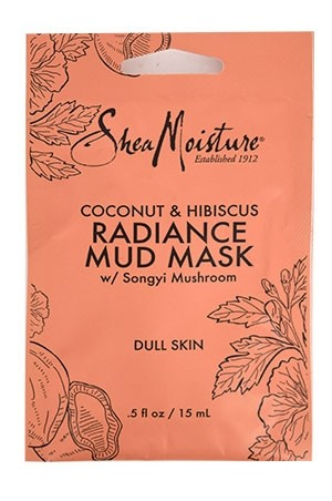 [Shea Moisture-BOX#96] Coconut & Hibiscus Mud Mask_Dull Skin [0.5 oz/ 12pk /ds]-ds