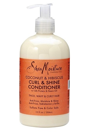[Shea Moisture-box#36] Coconut & Hibiscus Curl&Shine Conditioner (13oz)
