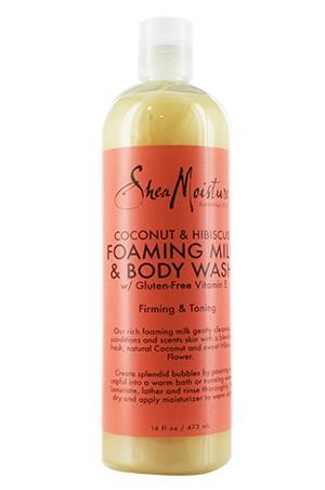 [Shea Moisture-box#59] Coconut&Hibiscus Foaming Milk & Body Wash (16oz)