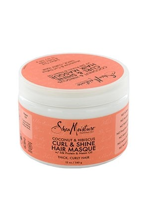 [Shea Moisture-box#115] Coconut & Hibiscus Curl & Shine Masque (12 oz)