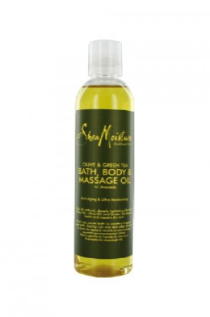 [Shea Moisture-box#7] Olive & Green Tea Bath,Body & MassageOil (8oz)