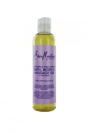[Shea Moisture-box#11] Lavender & Wild Or chid Bath,Body & Masg.Oil(8oz)