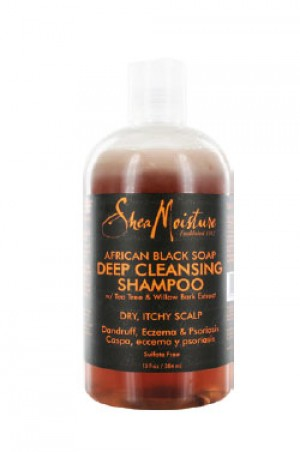 [Shea Moisture-box#15] Africa Black Soap Deep Cleans. Shampoo(13oz)