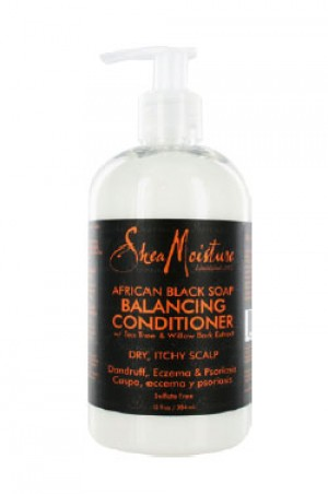 [Shea Moisture-box#16] Africa Black Soap Balanc.Conditioner(13oz)